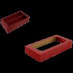 Pevná škatuľa na víno – 2 fľaše s okienkovým krytom